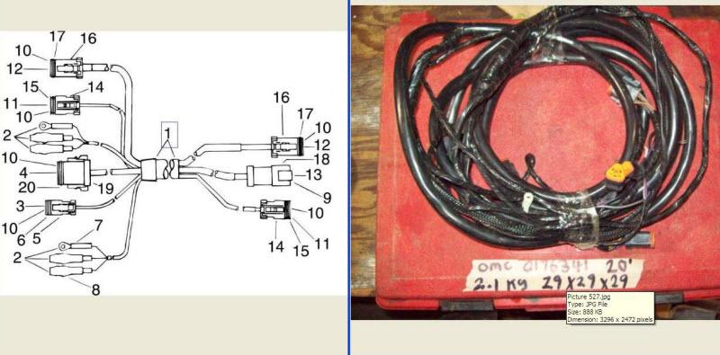 evinrude wire harness johnson evinrude 176341  0176341 instrument wire harness cable 2  johnson evinrude 176341  0176341