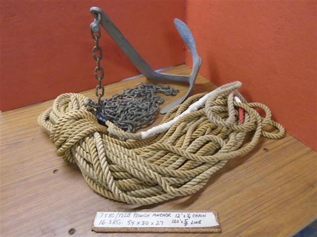 Anchor Kit 17LB Plow Anchor 12FT 1/4 Chain 120FT 5/8 Rope
