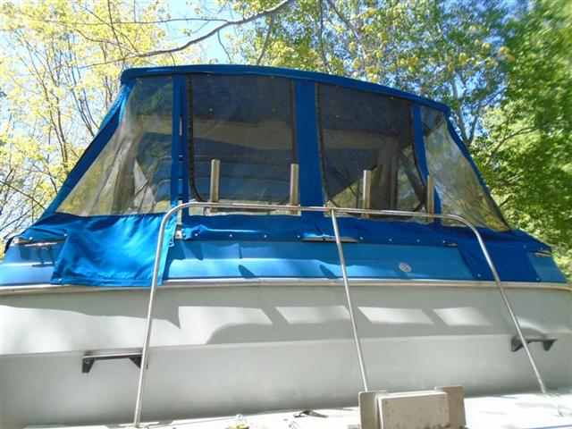 34 Bayliner Avanti 15 Piece Full Canvas Enclosure With Frame