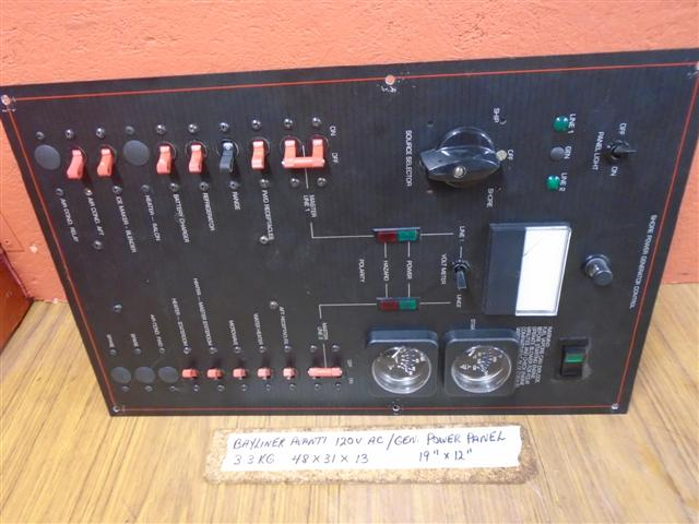 Bayliner Avanti Shore Power Gererator Control Panel