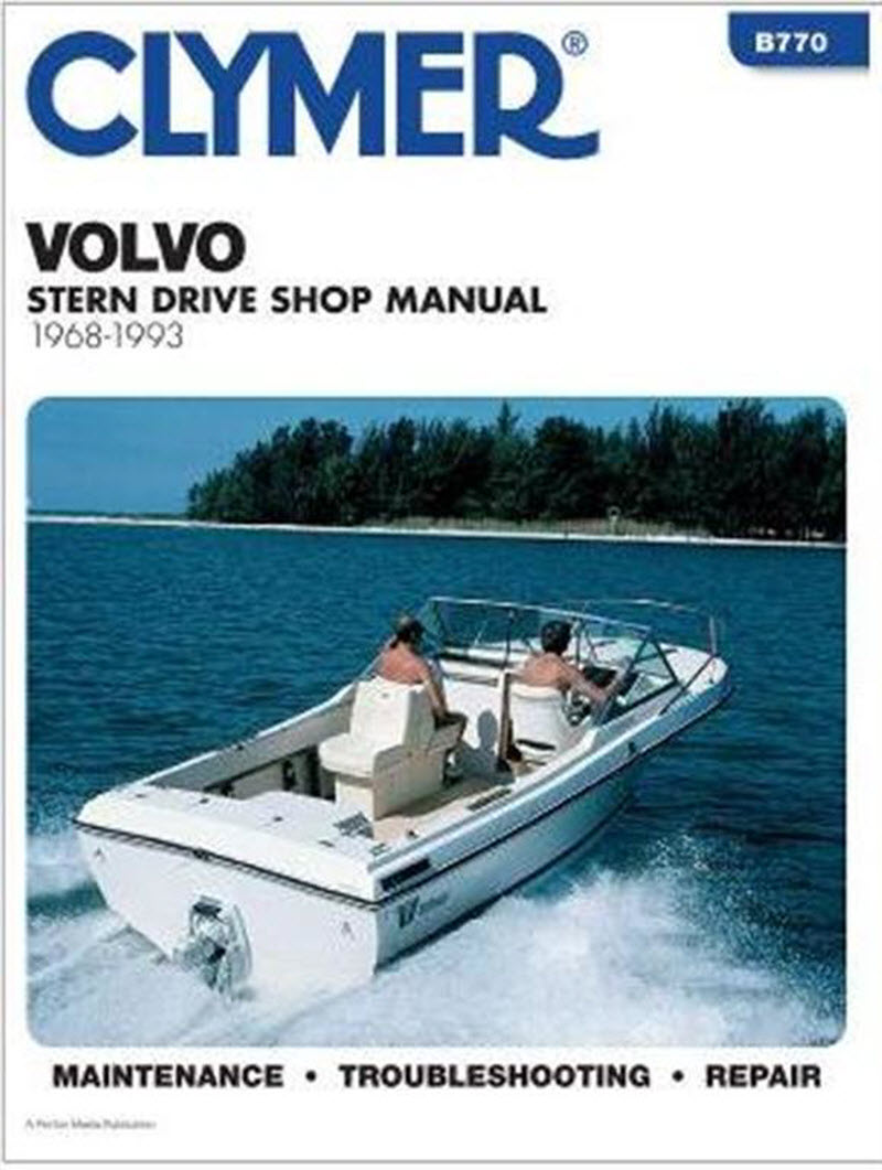 Clymer B770 repair Manual Volvo Penta Engine Motor & SternDrive