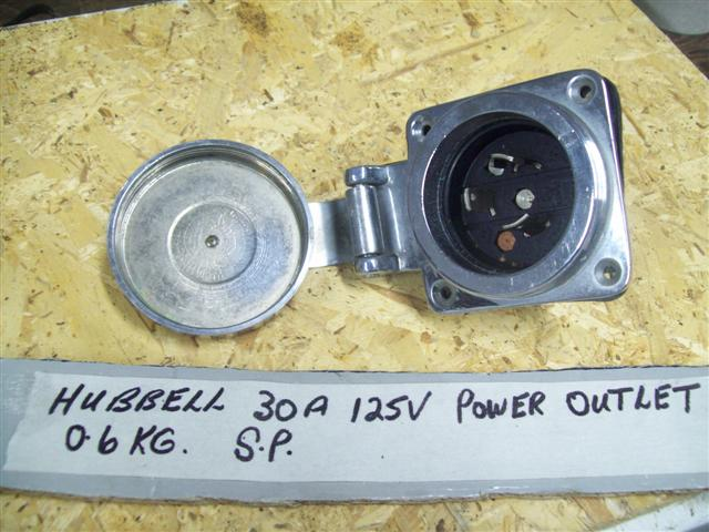 Hubbell 30A 125v chrome shorepower outlet 231A