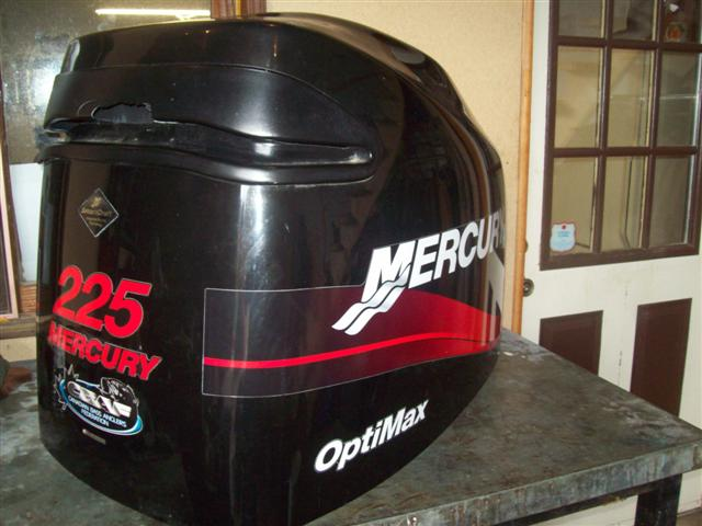 Mercury 225 optimax engine cover cowling 8811288 a1 for Mercury outboard motor cowling
