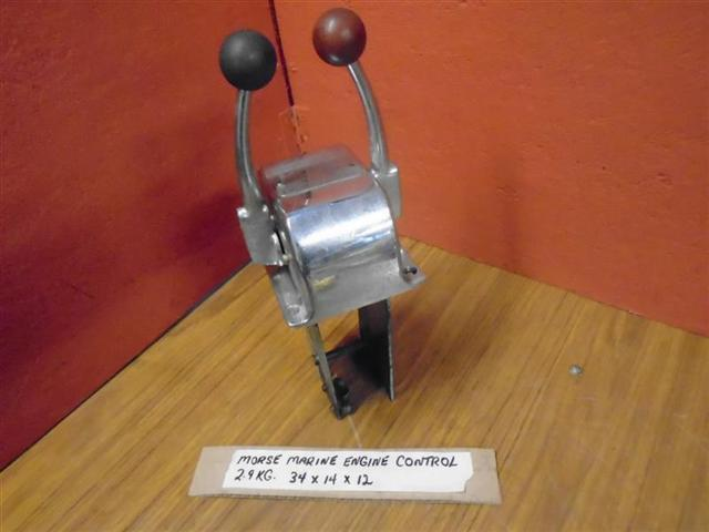 Morse Single Lever Controls : Vintage morse marine top mount engine control dual lever