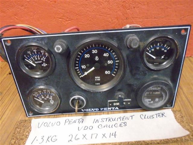 volvo penta instrument cluster rpm volts temp oil hour
