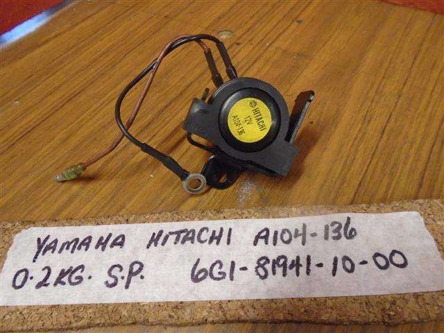 YAMAHA MARINE STARTER RELAY ASSEMBLY 6G1-81941-10-00, A104