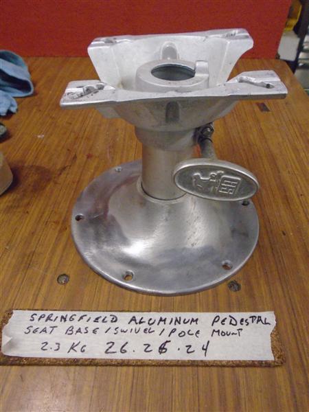 Springfield Boat Pedestal Seat Parts : Springfield aluminum pedestal swivel seat base